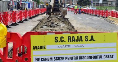 Atenţie, şoferi! Trafic restricţionat pe strada Mihai Eminescu. Se lucrează la conductele de apă