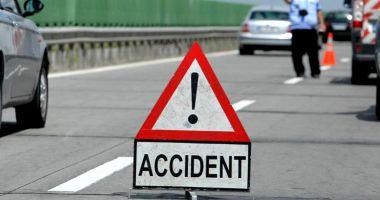 TRAGEDIE RUTIERĂ PE AUTOSTRADA SOARELUI! Un bărbat a murit, după ce s-a răsturnat cu mașina