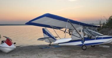 A aterizat direct în lacul Siutghiol