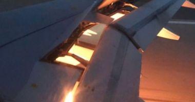 Avionul care transporta o echipă de la Cupa Mondială a luat foc în aer