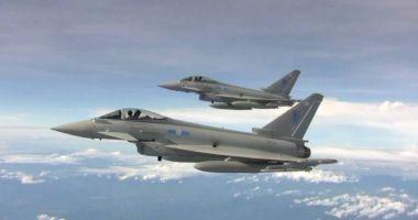 Autoritățile britanice au mobilizat avioane Typhoon pentru interceptarea unor aeronave rusești