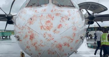 IMAGINILE ZILEI surprind o aeronavă ATR 72-500