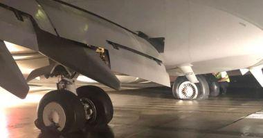 Incendiu la trenul de aterizare al unui avion care a aterizat pe Aeroportul Cluj-Napoca