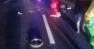 FOTO / Accident rutier între Constanţa şi Valu lui Traian. O persoană a fost rănită