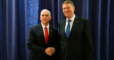 Iohannis, întâlnire cu vicepreședintele SUA, Mike Pence