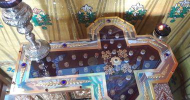 Se sfințește racla cu moaștele aduse de la Sfântul Munte Athos