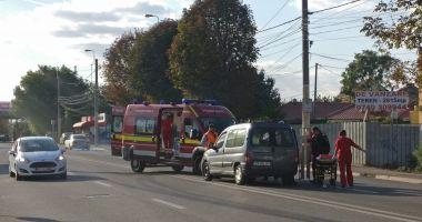 GALERIE FOTO / Accident rutier pe bulevardul IC Brătianu. O femeie a fost rănită