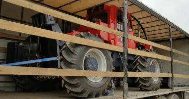 Bulgar prins cu un tractor furat, la intrarea în România