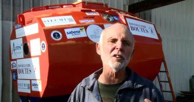 La 71 de ani, vrea să traverseze Oceanul Atlantic într-un butoi