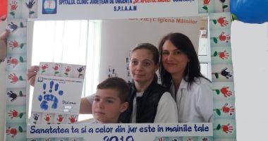 Copiii din Constanţa învaţă despre igiena mâinilor