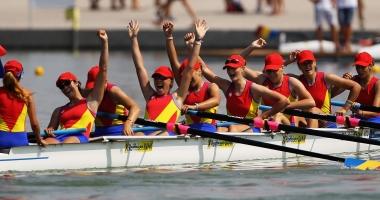 Canotaj / Medalie de aur pentru România, la 8+1 feminin, în Cehia