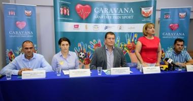 """""""Caravana Sănătate  prin Sport"""". Prima escală, la Liceul """"Lucian Blaga"""""""