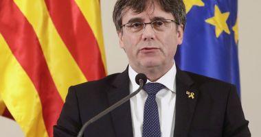 Carles Puigdemont şi-a prezentat candidatura în alegerile pentru PE