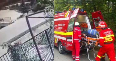 VIDEO ŞOCANT! Bărbat lovit de căruţă. Victima ESTE ÎN COMĂ!
