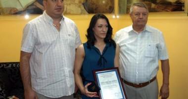 """Cătălina Ponor medaliată de Universitatea """"Ovidius"""""""