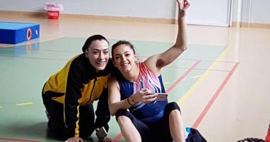 Cătălina Ponor,  la startul Campionatelor Europene  de gimnastică