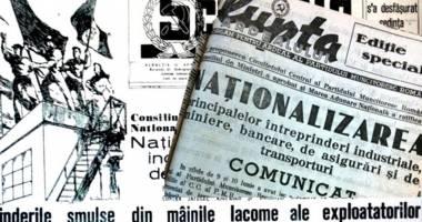 Profitorii naţionalizărilor în 1948 şi 1950