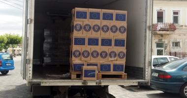 Primăria Cernavodă distribuie pachetele cu ajutoare de la UE