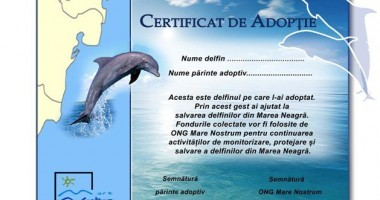"Mare Nostrum continuă campania ""Adoptă un delfin"""