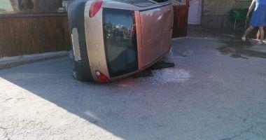 Accident rutier în localitatea Mihail Kogălniceanu. O persoană a fost rănită