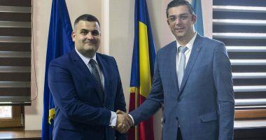 Șeful CJC, Horia Țuțuianu, întâlnire cu ministrul Apărării, Gabriel Leș