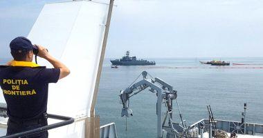 Coliziune între două nave. Exerciţiu de antrenament în Marea Neagră