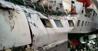 Coliziune navală cu pagube materiale și răniți