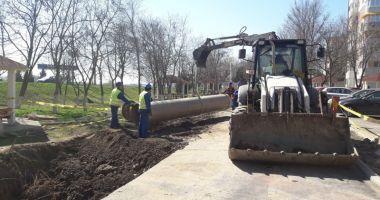 Ample lucrări de înlocuire a unei conducte de ape uzate, la Năvodari