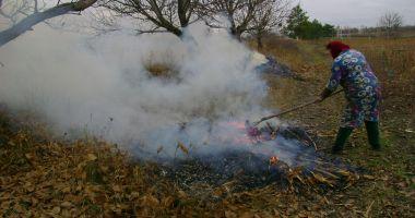 Constănţenii care vor da foc la frunze vor fi sancţionaţi
