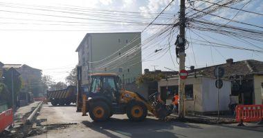 Continuă reabilitarea străzii Unirii. Trafic restricționat timp de două zile