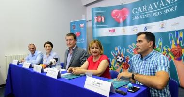 """""""Caravana - Sănătate prin Sport"""" ajunge în şcolile din municipiul Constanţa"""