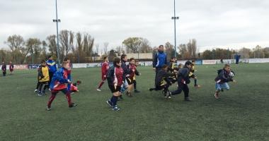 Spectacol cu balonul oval, la Cupa Toamnei la mini-rugby