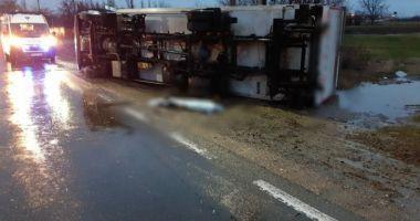 Descoperire şocantă a polițiștilor sub TIR-ul răsturnat de dimineață