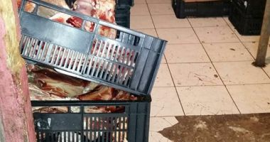 Galerie FOTO-VIDEO. Imagini șocante dintr-o măcelărie din Piața Tomis III Constanța. Ce mizerii primeau clienții în loc de carne