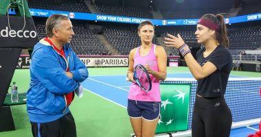 Dan Petrescu le-a vizitat la antrenament pe Irina Begu și Sorana Cîrstea