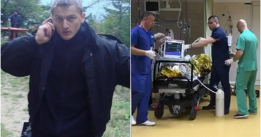 Poliţistul atacat cu sabia, la percheziții, ar putea fi externat săptămâna viitoare