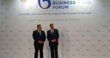 Klaus Iohannis  și Mihai Daraban  au deschis Summit-ul Inițiativa  celor Trei Mări