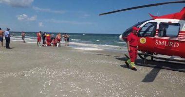 Tânăr înecat, la Costinești. Intervine elicopterul SMURD