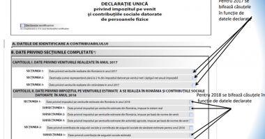 Declarația unică poate fi depusă  și la primăriile  din județul Constanța