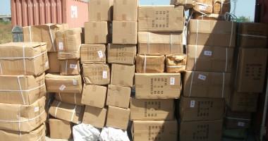 Deodorante contrafăcute descoperite de poliţiştii din port