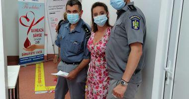 De ziua lor, polițiști de frontieră constănțeni donează sânge