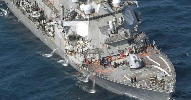 """Distrugătorul """"USS Fitzgerald"""" s-a ciocnit cu un portcontainer. Şapte marinari militari au dispărut"""