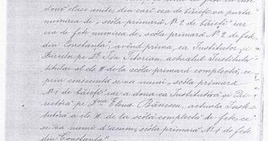 1891 - Anul înfiinţării a două noi şcoli primare în Constanţa