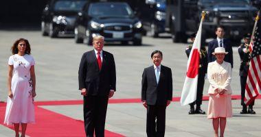 Donald Trump, primul lider străin primit de noul împărat al Japoniei