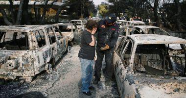 Drama unui pompier grec: i-a murit copilul de şase luni  în incendii, în timp  ce se lupta cu flăcările