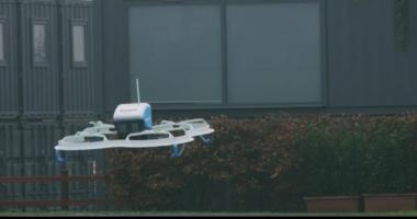 VIDEO. Prima livrare de produse, realizată cu o dronă