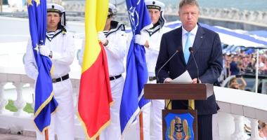 Preşedintele Klaus Iohannis a ajuns la Ziua Marinei: