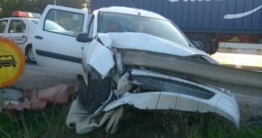 Galerie FOTO. Accident rutier spectaculos �n Constan�a. Trei victime!