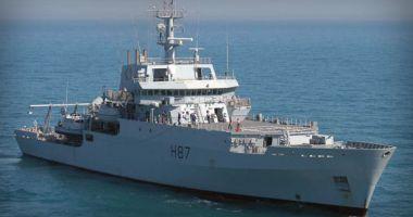 """Nava maritimă hidrografică britanică HMS """"Echo"""" sosește în portul Constanța"""
