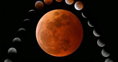 Eclipsă totală de lună, vizibilă în întreaga emisferă vestică